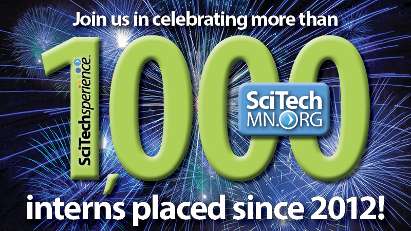 1,000 STEM Interns Placed Since 2012!